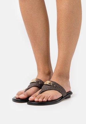 TILLY THONG - Sandalias de dedo - brown