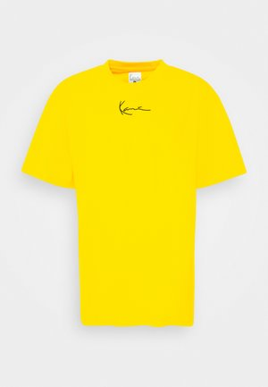 SMALL SIGNATURE TEE UNISEX - Print T-shirt - yellow