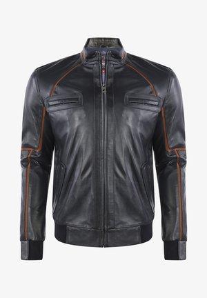 Leather jacket - navy