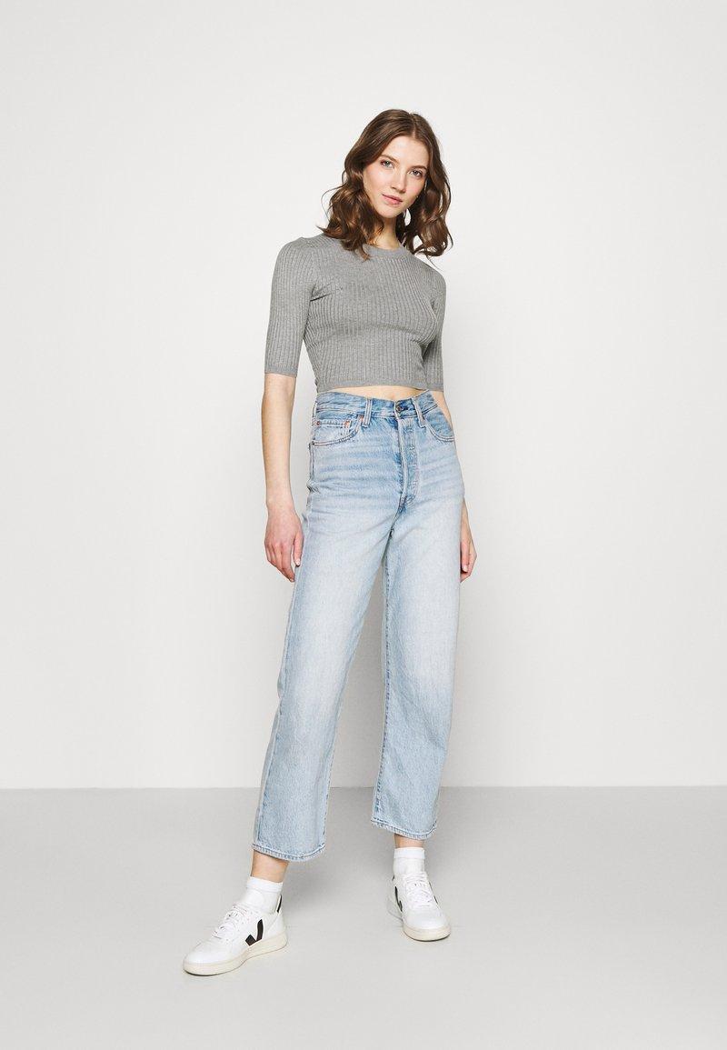 Even&Odd - 2 PACK - T-shirt basic - mottled grey/sand