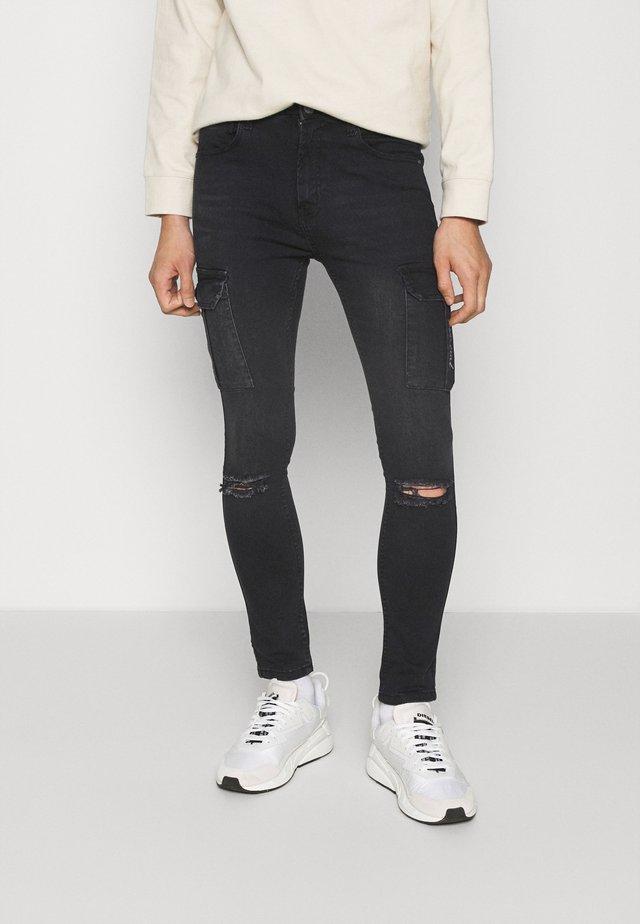 FALCO - Skinny džíny - black