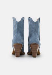 Bronx - NEW KOLE - High heeled ankle boots - retro blue - 3