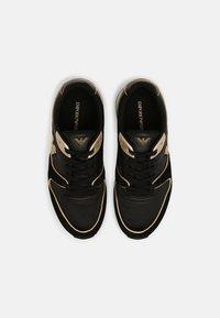 Emporio Armani - Trainers - black/light gold - 4