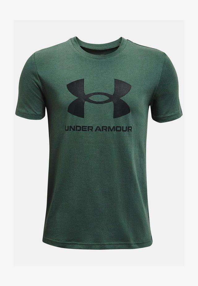 Print T-shirt - toddy green