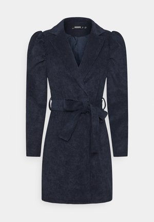 TIE DYE BELTED DRESS - Robe fourreau - navy