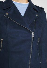 TOM TAILOR DENIM - Faux leather jacket - sky captain blue - 4