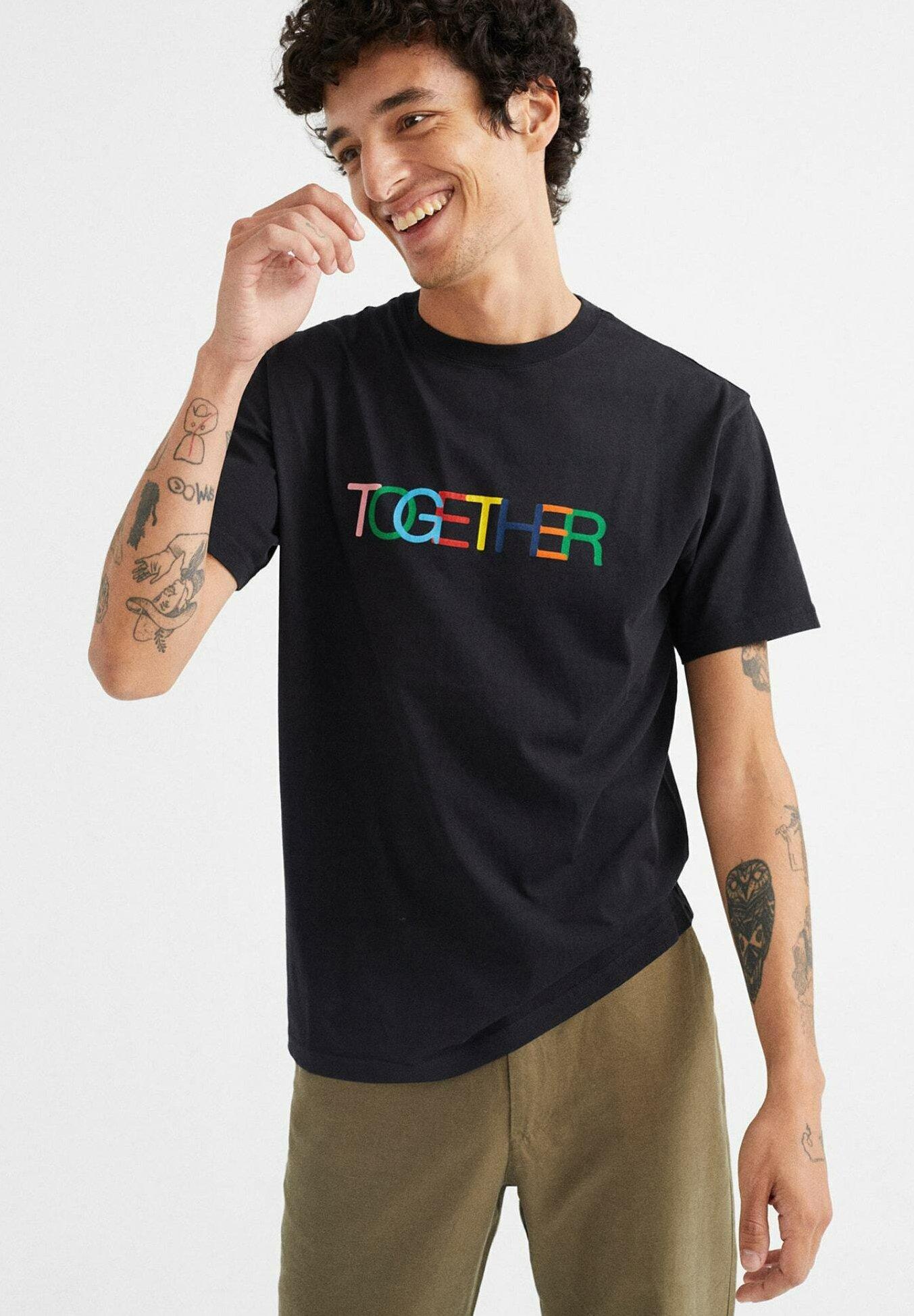 Herren TOGETHER  - T-Shirt print