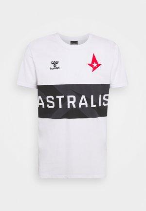 ASTRALIS - T-shirt med print - white