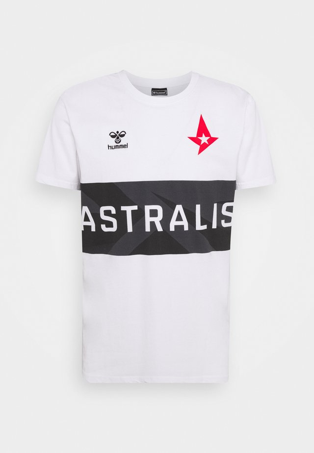 ASTRALIS - T-shirt con stampa - white