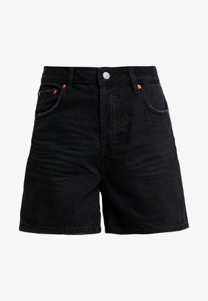 A SHAPE HIGHWAIST - Denim shorts - dark stone/black denim