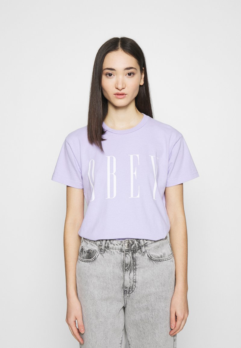 Obey Clothing - NEW - Print T-shirt - periwinkle