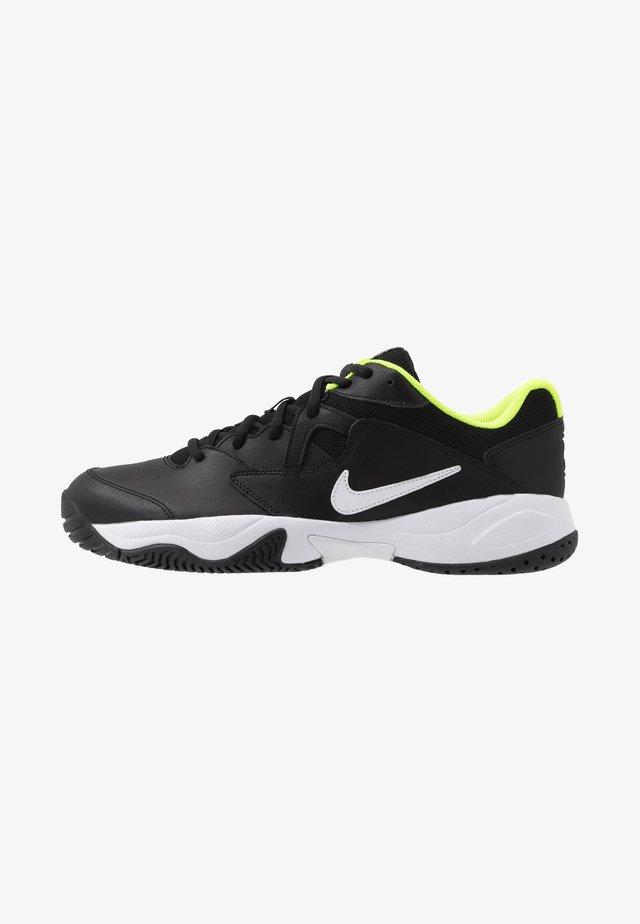 COURT LITE 2 - Zapatillas de tenis para todas las superficies - black/white/volt