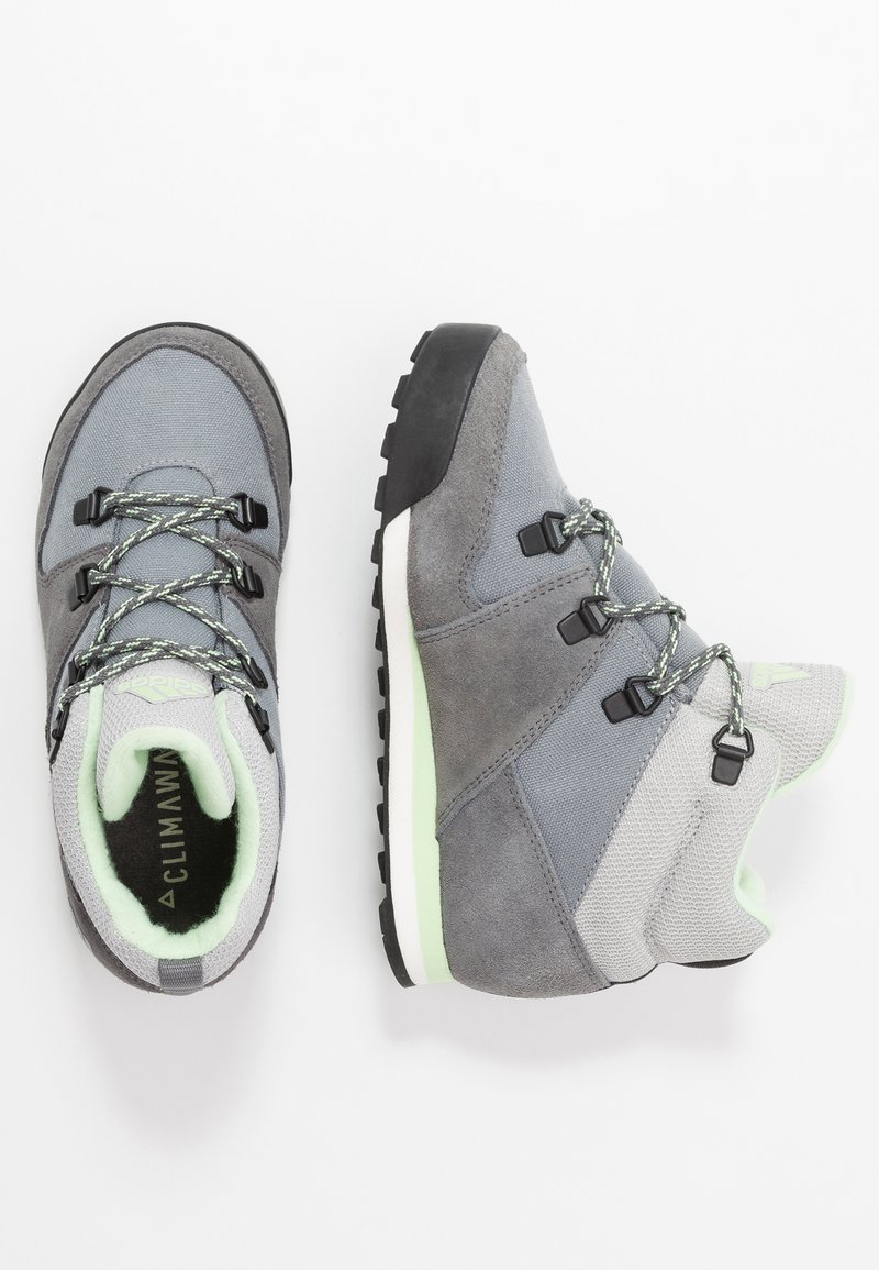 adidas Performance - SNOWPITCH COLD.RDY TRAXION HIKING SHOES MID - Hikingschuh - grey three/grey four/glow green