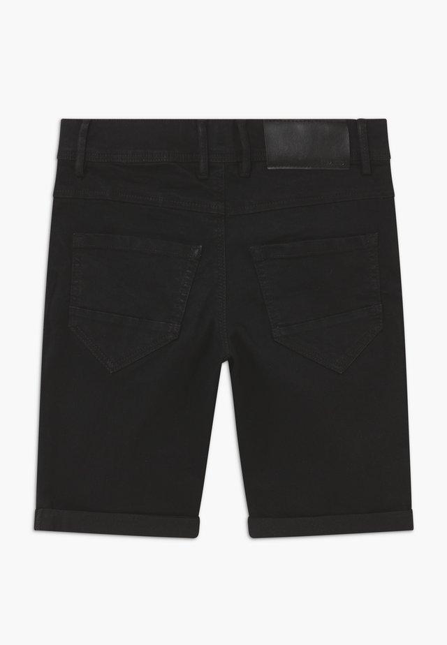 NLMSHAUN - Džínové kraťasy - black denim