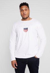 GANT - PLUS SHIELD - Long sleeved top - white - 0