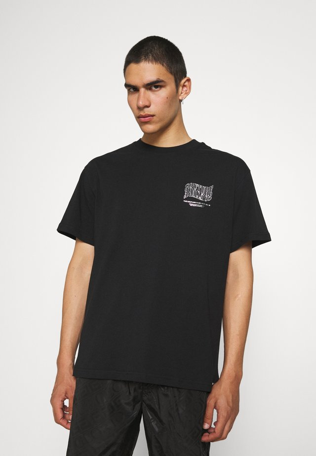 COUTURE WAVE PRINT - T-shirt con stampa - black