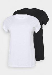 BOYFRIEND 2 PACK - Basic T-shirt - black/white