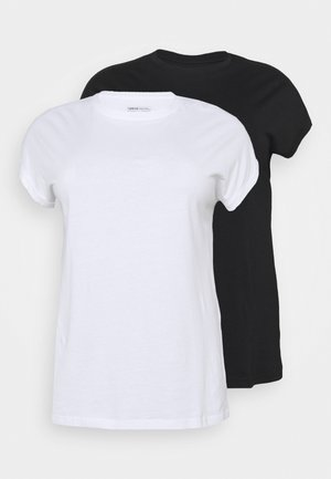 BOYFRIEND 2 PACK - Basic T-shirt - black/white