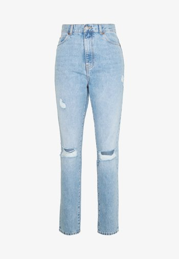 NORA - Straight leg jeans - destiny blue ripped