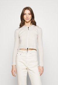 BDG Urban Outfitters - CROPPED ZIP HOODIE - Zip-up sweatshirt - ecru - 0