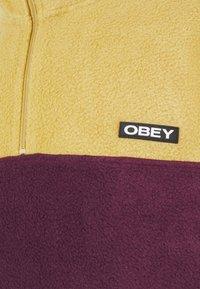 Obey Clothing - EULOGY MOCK NECK ZIP - Fleece jumper - almond - 2