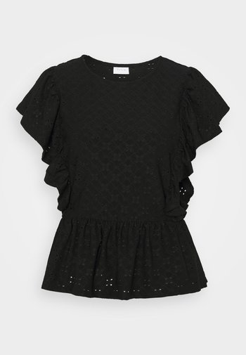 VITRESSY CAPSLEEVE - Print T-shirt - black