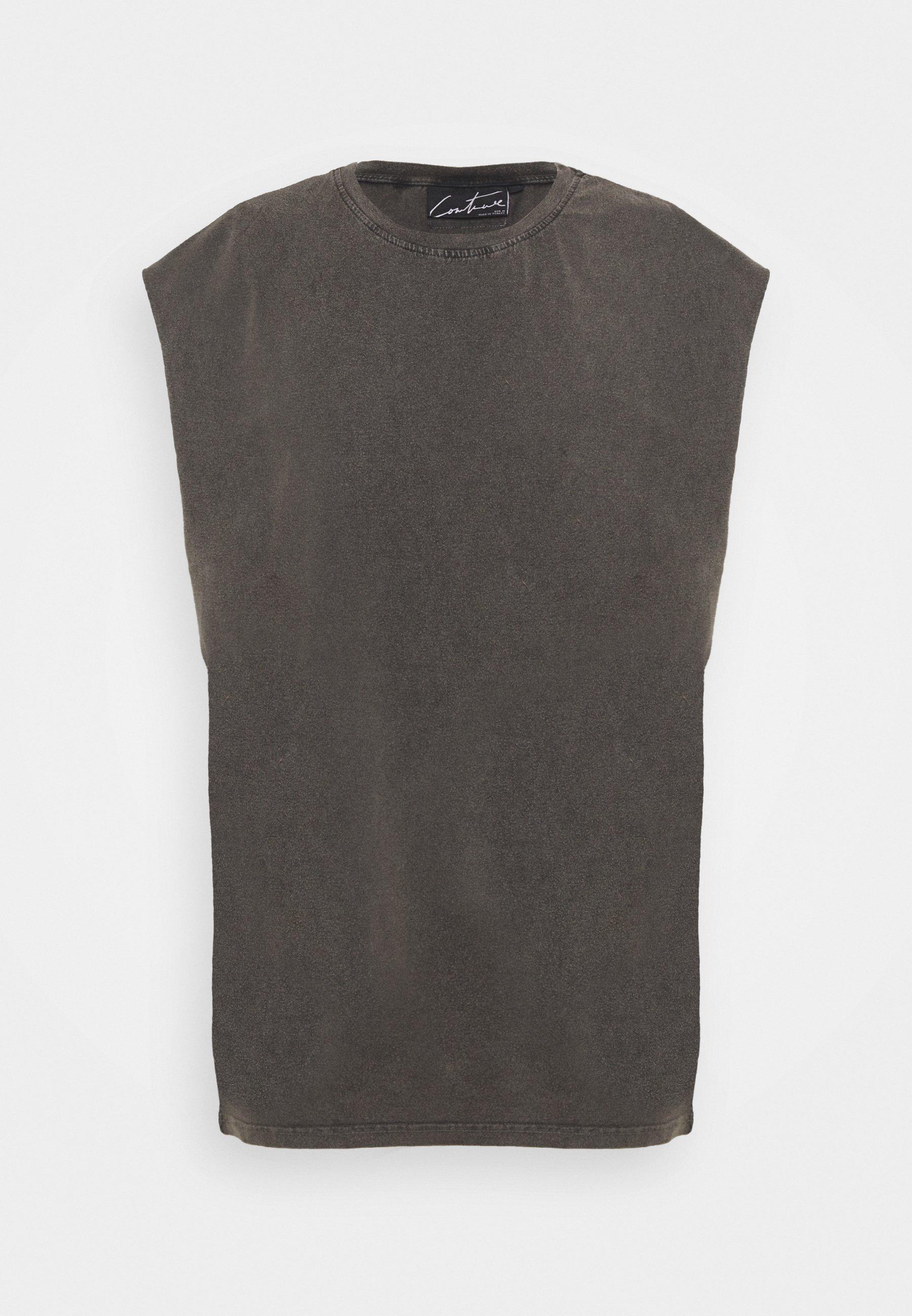 Men ESSENTIALS CUT OFF - Basic T-shirt