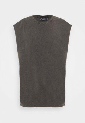 ESSENTIALS CUT OFF - Basic T-shirt - mottled dark grey