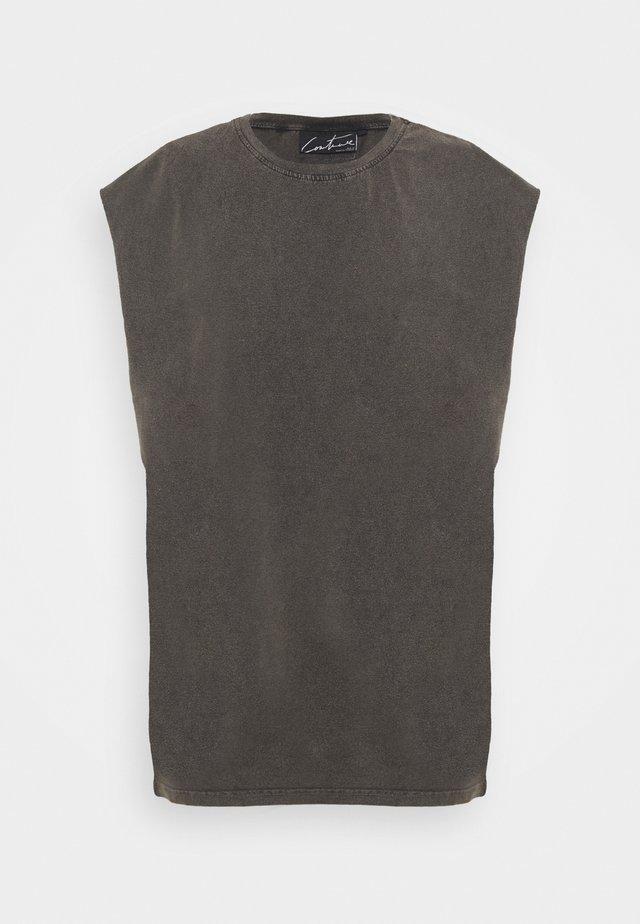ESSENTIALS CUT OFF - T-shirt basic - mottled dark grey