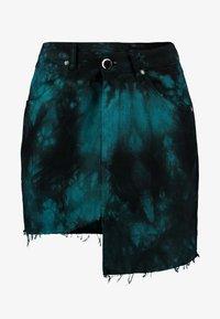 NGHTBRD - TIE DYE - Denimová sukně - electric green - 3