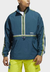 adidas Originals - TAPED ANORAK - Windbreaker - turquoise - 2