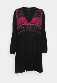Desigual - VEST SOLSONA - Day dress - black - 5