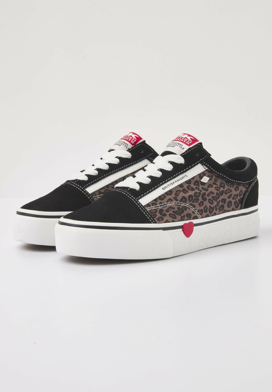 British Knights Mack - Sneaker Low Black/leopard/red Heart/schwarz Meliert