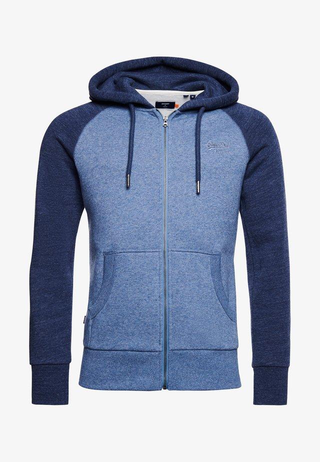veste en sweat zippée - slate blue grit