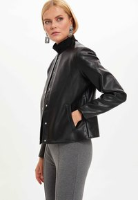 DeFacto - Faux leather jacket - black - 3