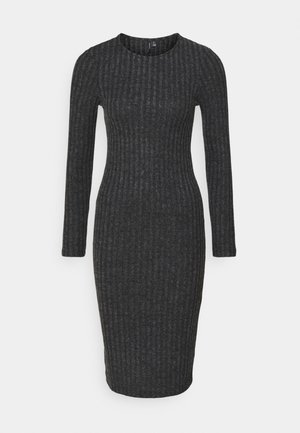 VMTAMIKA FITTED DRESS - Jumper dress - dark grey melange