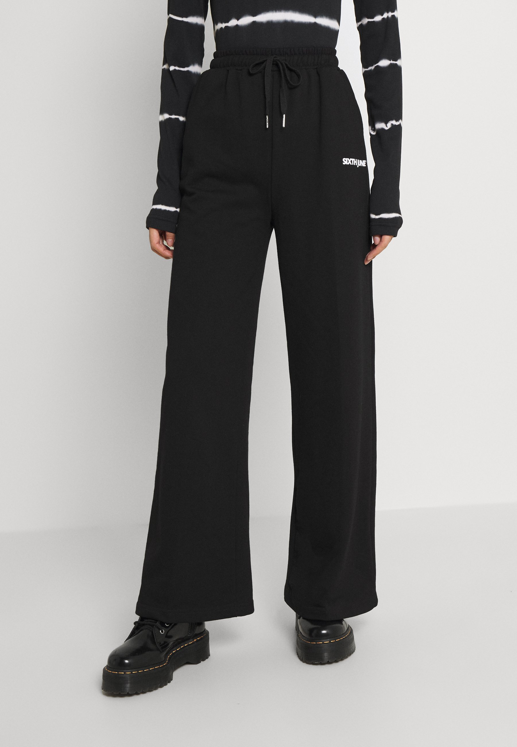 Women BASIC WIDE LEG PANTS - Tracksuit bottoms