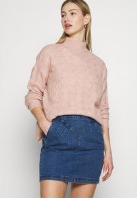Noisy May - Mini skirt - medium blue denim - 4
