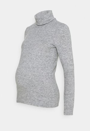 PCMPAM HIGH NECK - Strikkegenser - light grey melange