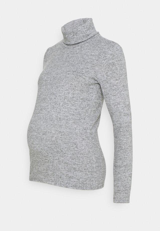 PCMPAM HIGH NECK - Svetr - light grey melange