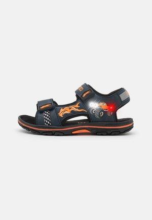 UNISEX - Walking sandals - navy/orange