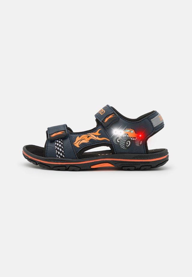 UNISEX - Chodecké sandály - navy/orange