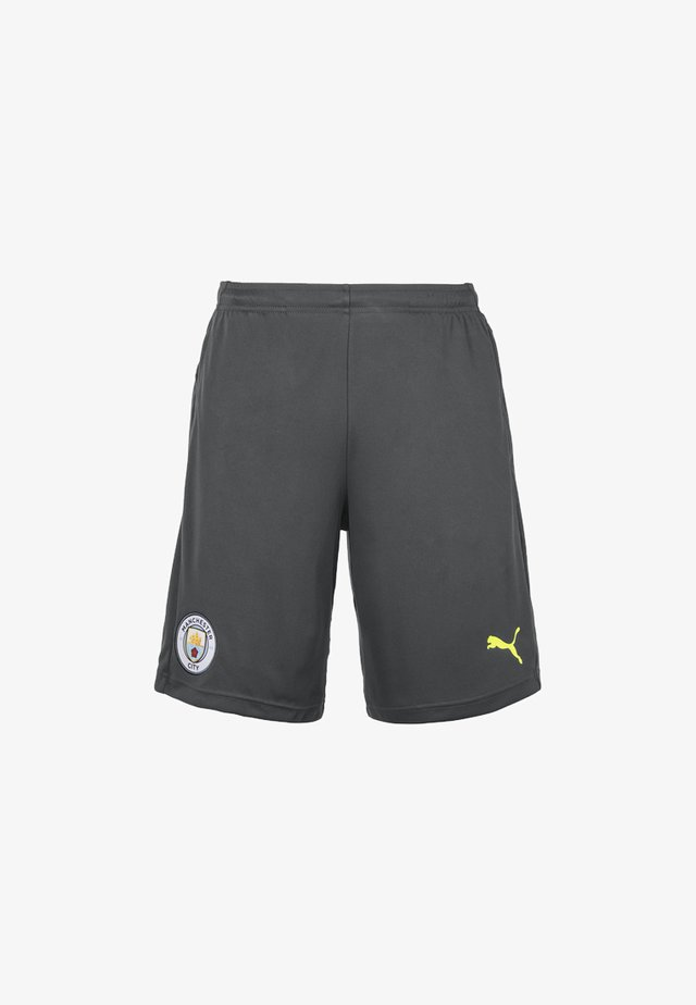 Sports shorts - asphalt-fizzy yellow