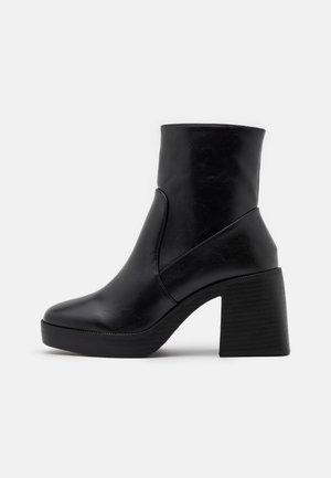 WIDE FIT LEXUS - Platåstøvletter - black