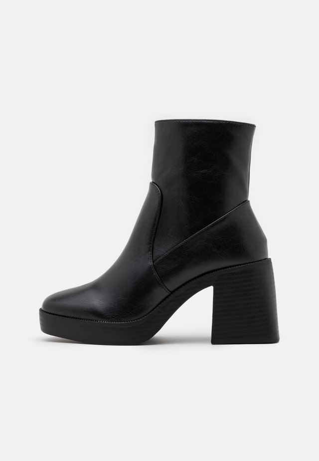 WIDE FIT LEXUS - Platform ankle boots - black