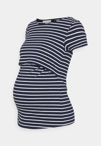 Anna Field MAMA - NURSING FUNCTION t-shirt - Camiseta estampada - dark blue/white - 0