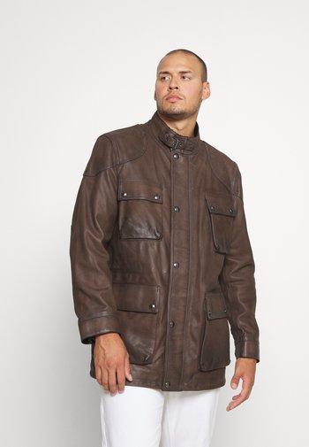 FIELDMASTER - Leather jacket - taupe