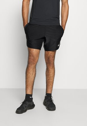 SHORT - Korte sportsbukser - black/white