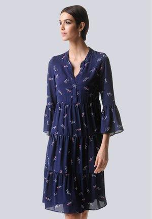 KLEID - Day dress - marineblau,rot,off-white