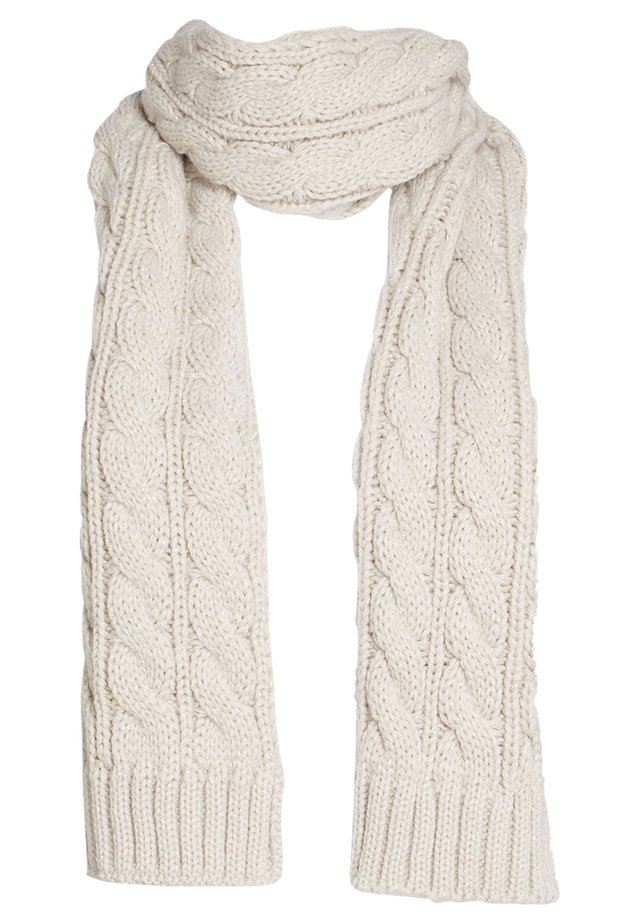 BLACK CABLE SCARF - Sjaal - off-white